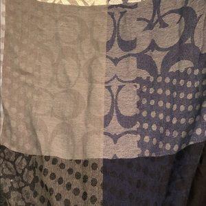 Coach 100% pashmina cashmere shawl